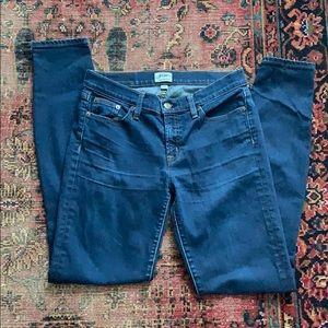 J Crew Toothpick Skinny Jeans Tall 28